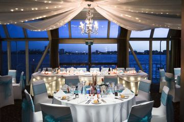 Wedding Reception Settings Aboard The Crystal Swan